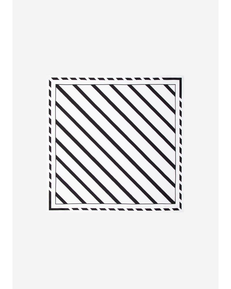 Classic Color Schemes Striped Silk Scarf