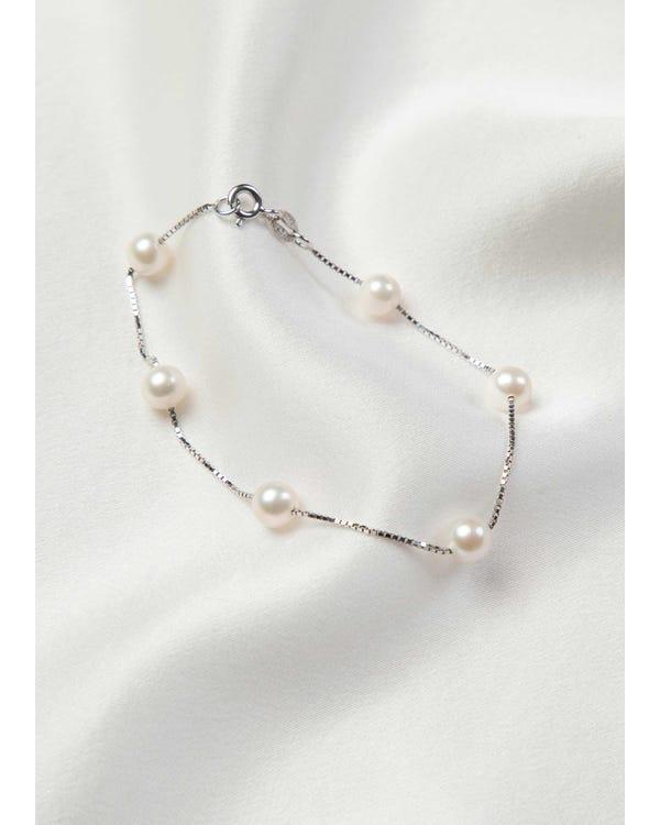Freshwater Cultured Pearl  Sterling Silver Bracelet