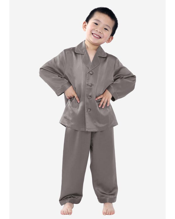 Silk Button Down Pajama For Boys