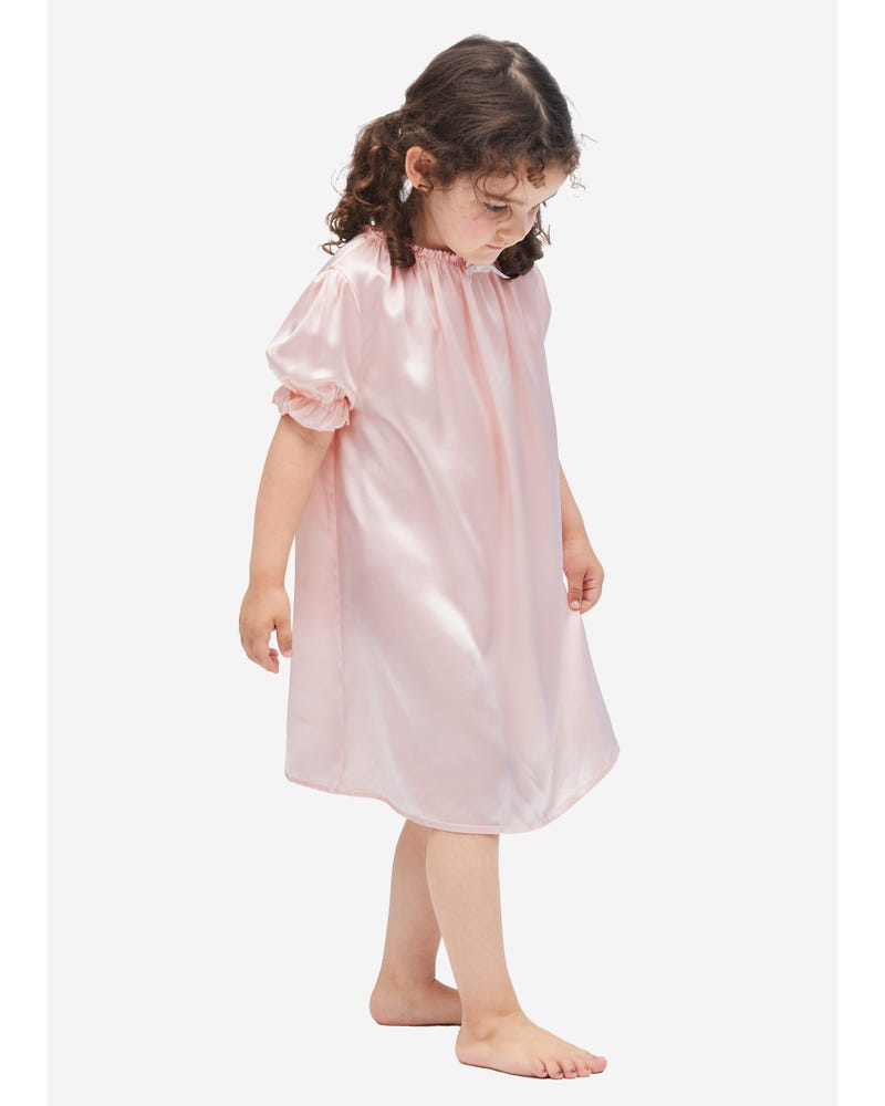 Classic Silk Nightgown For Kids
