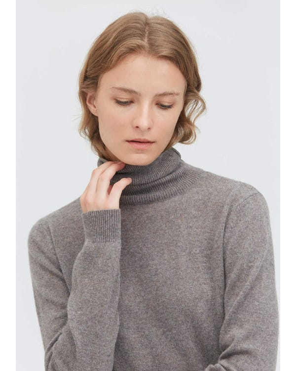 Pure Cashmere Turtleneck Sweater-hover