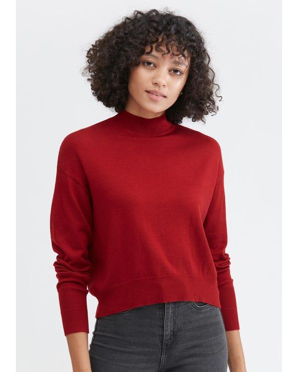 Entspannter Stil Seidenwolle Pullover