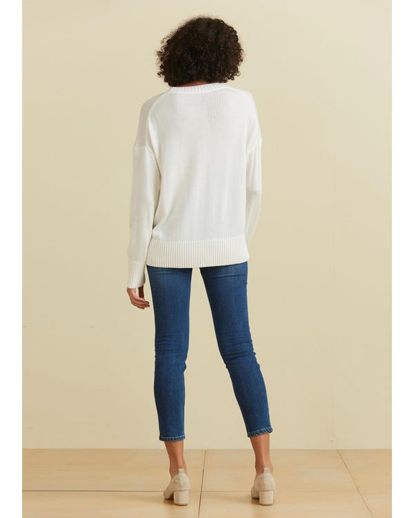 Casual Style Crew Neck Sweater