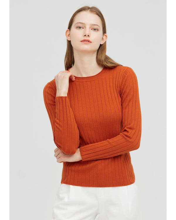 Silk And Wool-Blend Ribbed Sweater