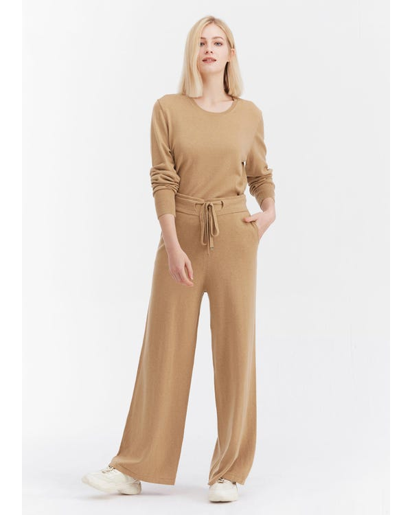 Silky Knitted Belt Pants