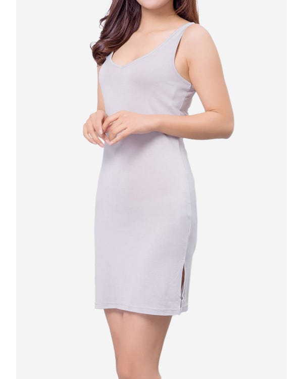 Elegant Silk Knitted Slip Dress