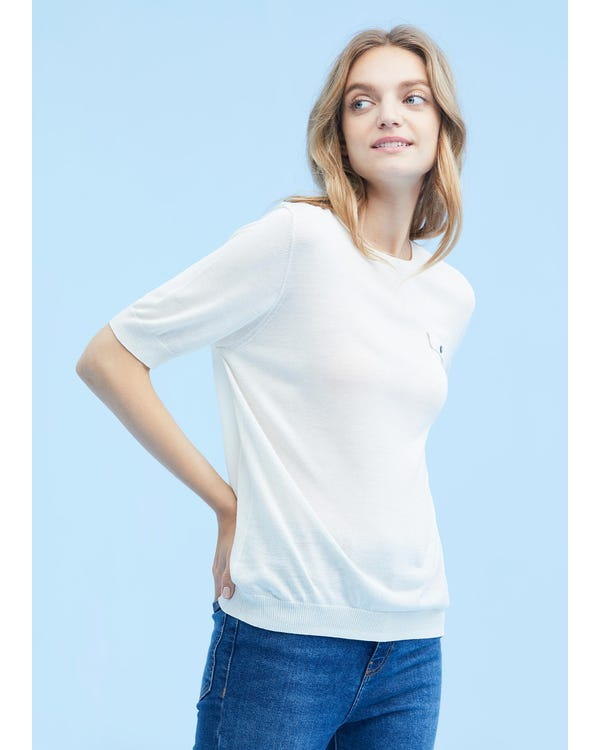 Breathable Short Sleeve Silk Knit Tee-hover