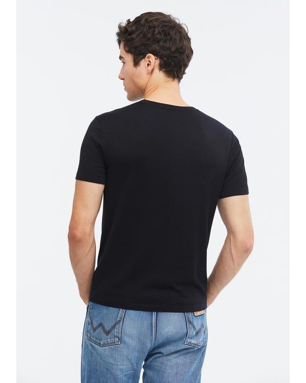 Camiseta de Punto de Seda para Hombres Black L