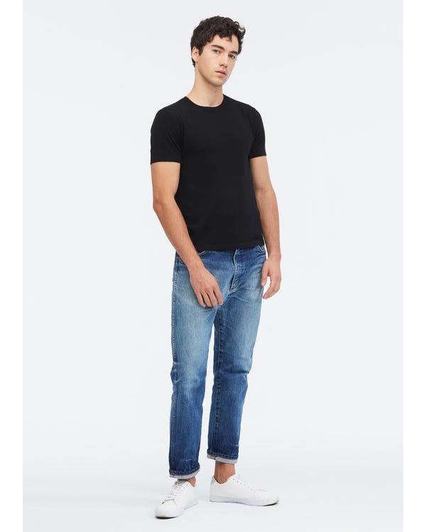 Camiseta de Punto de Seda para Hombres Black L-hover