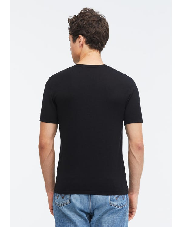 Mens Basic Silk Knitted T Shirt-hover