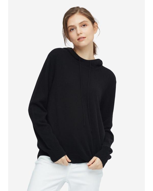 Frauen Pullover Kaschmir Strickpullover Black M