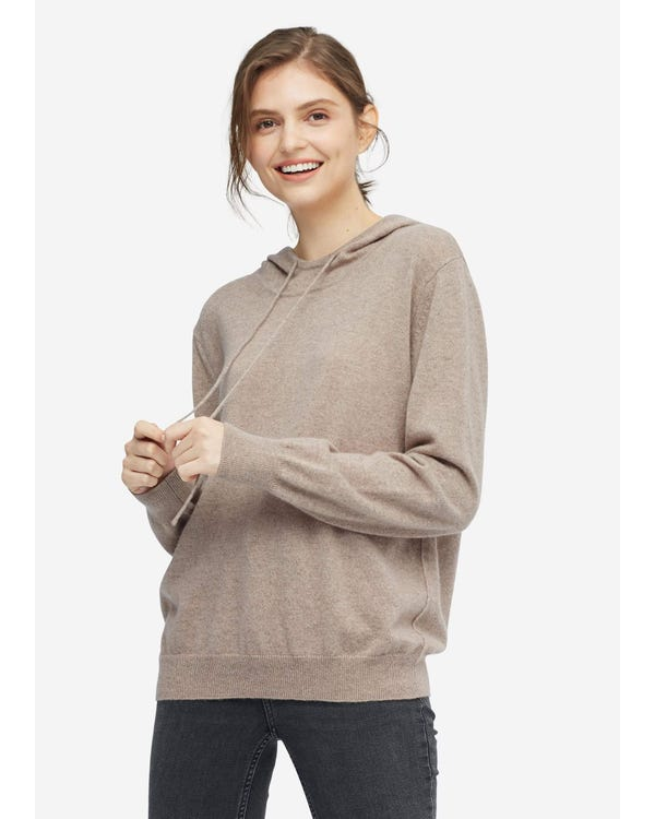 Woman Pullover Cashmere Knit Sweater Warm-Taupe Pre-Sale-S-18-12