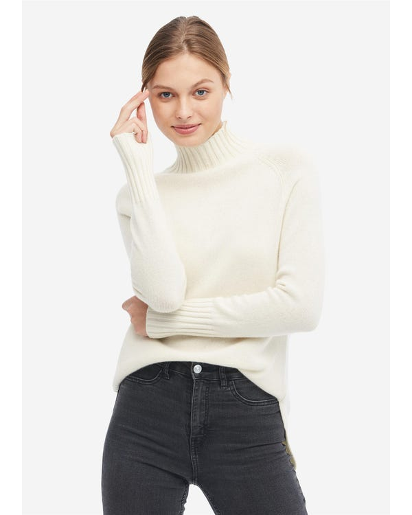 Essential Pullover Style Cashmere Turtleneck Sweater