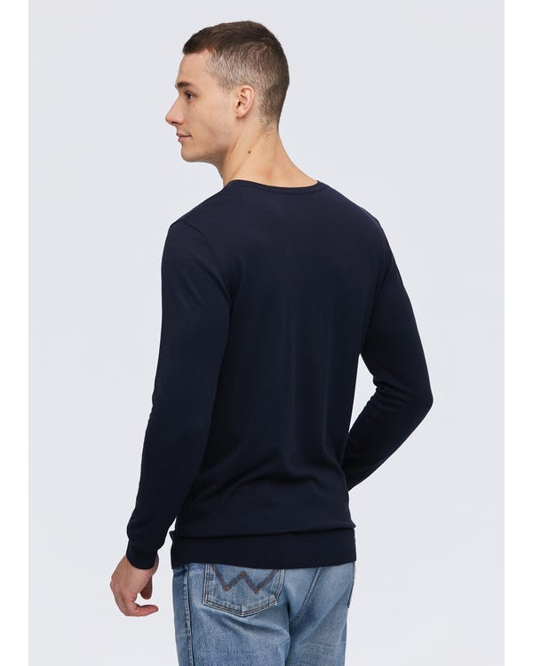 Mens Basic Silk V Neck Tee-hover