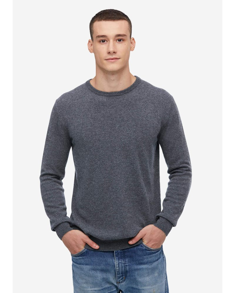 Crew Neck Cashmere Sweater For Men