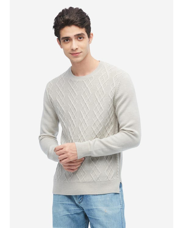 Argyle Knit Cashmere Sweater For Men