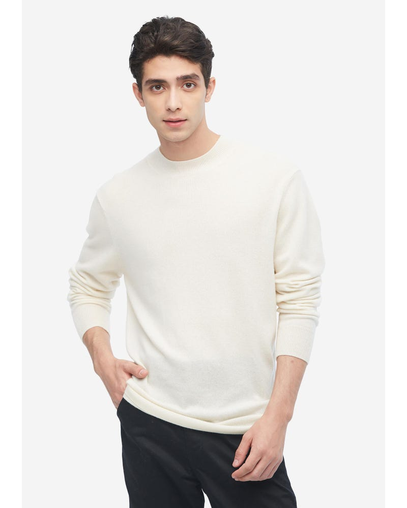 Round Neck Cashmere Sweater for Men