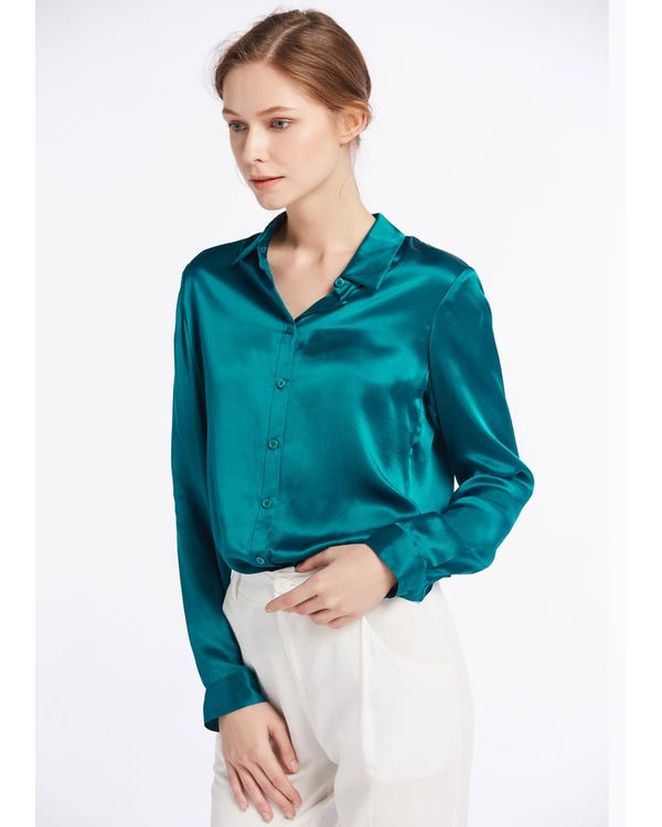 Basic Military Silk Shirts-hover