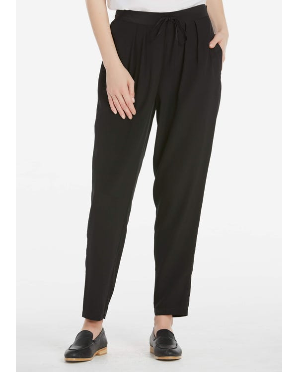 18MM Pleat Front Harem  Silk Trousers