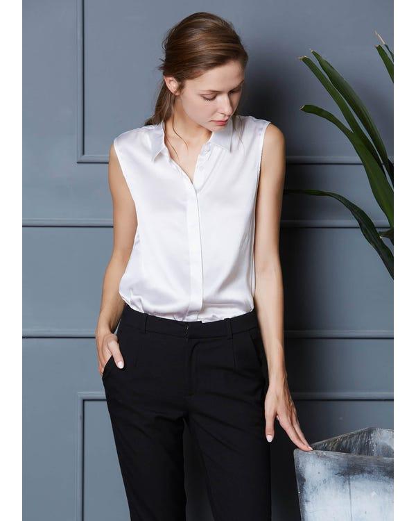 22MM Office Basic Silk Vest Top White XXL-hover