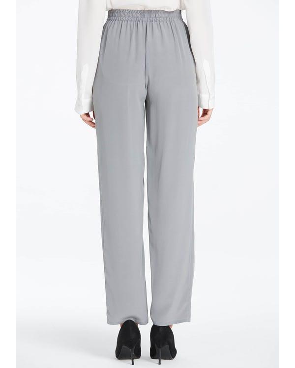 Elastische Taille Seide Hosen Classy Grey 26B