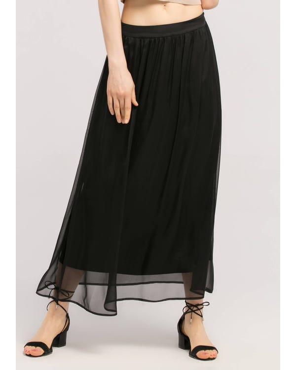 Flowy Ankle Length 6MM Silk Skirt