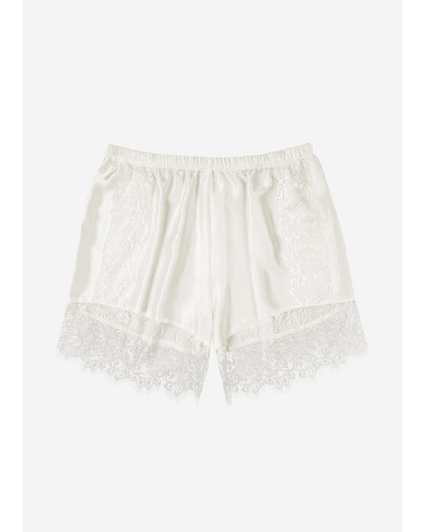 19MM Lacy Silk Tap Pants