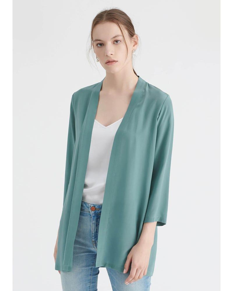 Let Matchende Silke Kimono