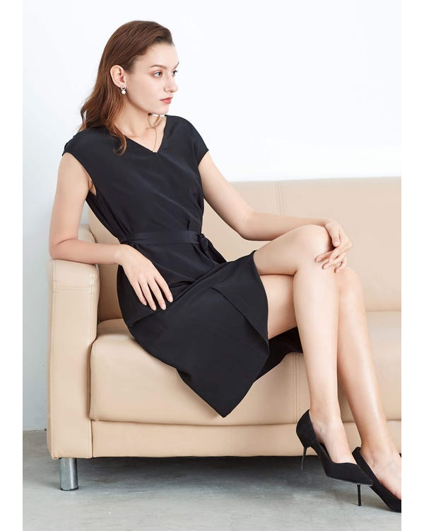 Basic Silk LBD Wearable Front and Back Black XXL