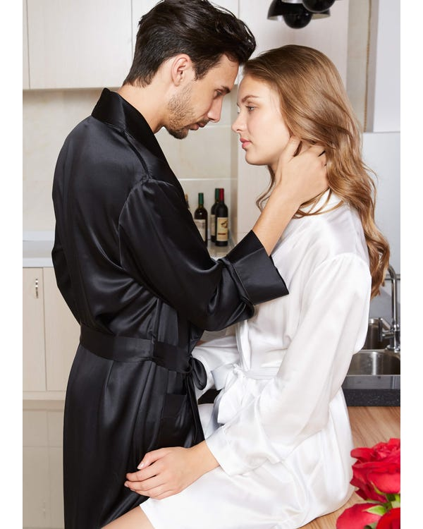 22 Momme Matching Silk Couple Robes