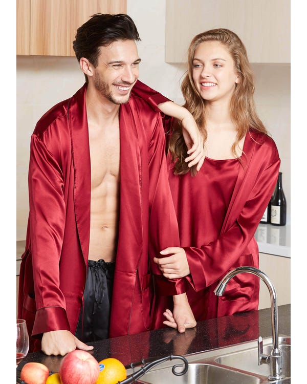 22 Momme Luxury Silk Couple Robes