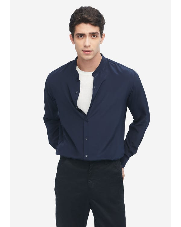 Business Formal Silk Shirt For Men