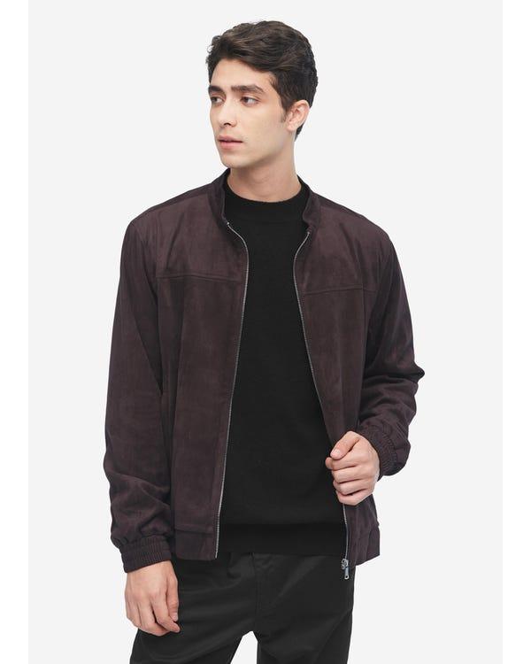 Mens Silk Jacket with Pockets Deep-Coffee-281 XXXL