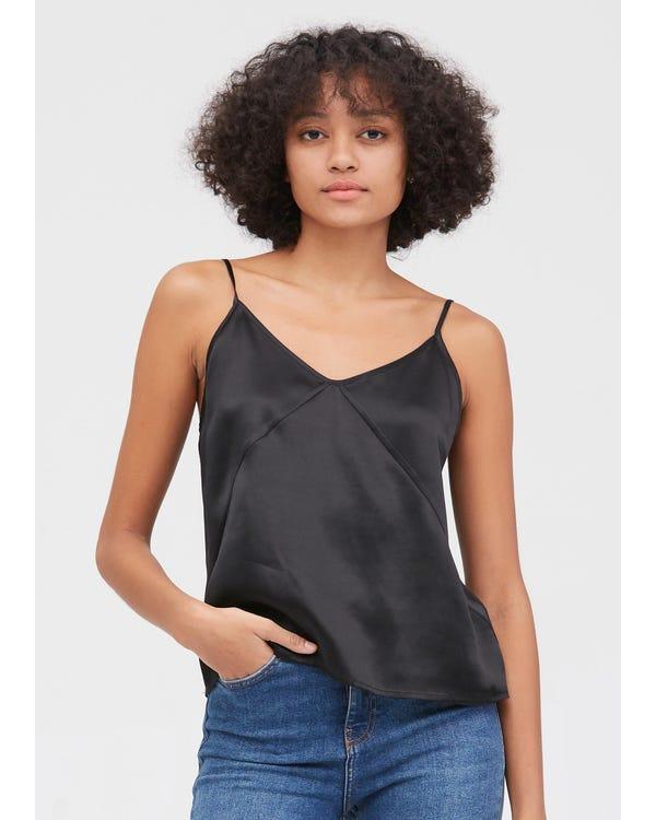 Women's Any Day Silk Camisole Black XXL