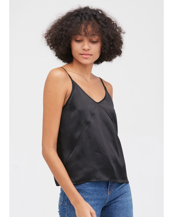 Women's Any Day Silk Camisole Black XXL-hover