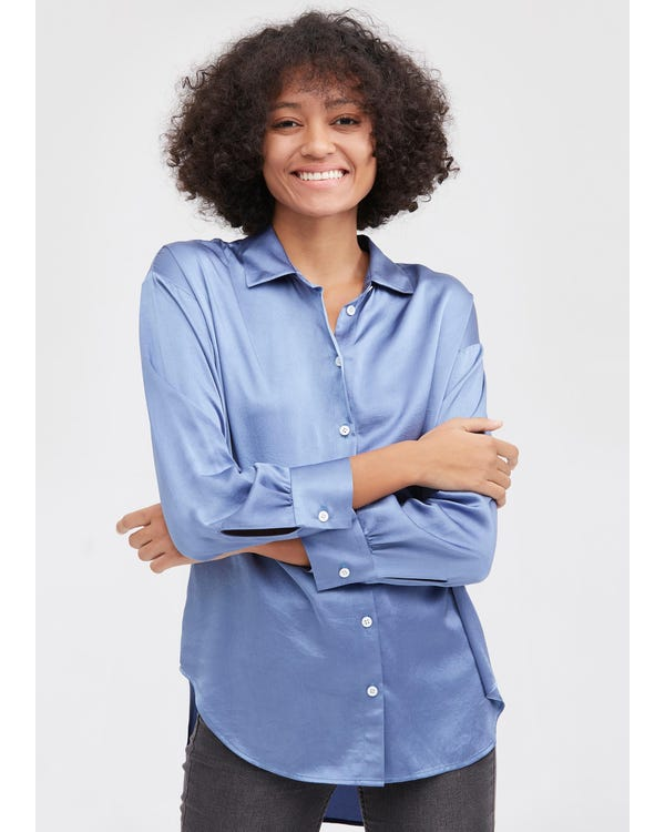 Casual Style Silk Basic Blouse