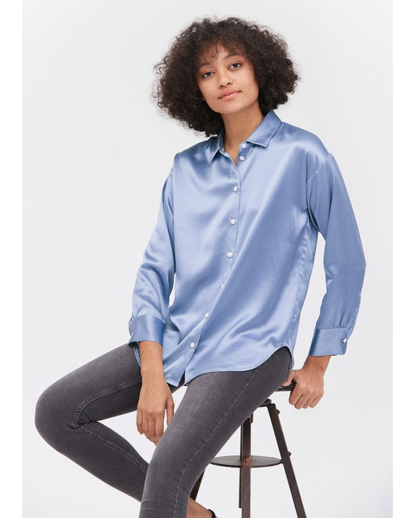 Casual Style Silk Basic Blouse-hover