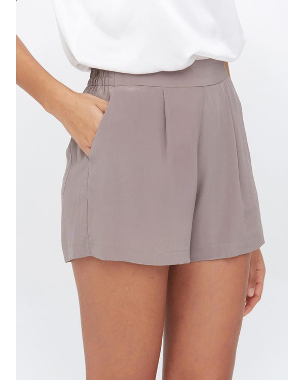Basic And Soft Silk Shorts Silver-Pink 31B-hover
