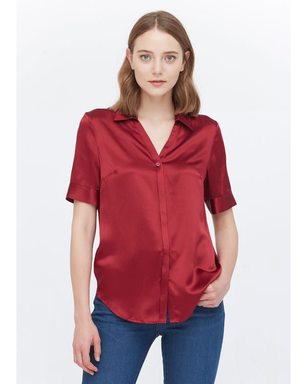 Versatile Silk Short Sleeve Shirt