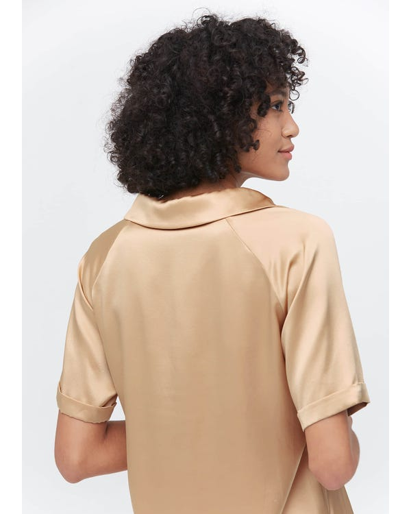 Womens Classic Silk Polo Shirts-hover
