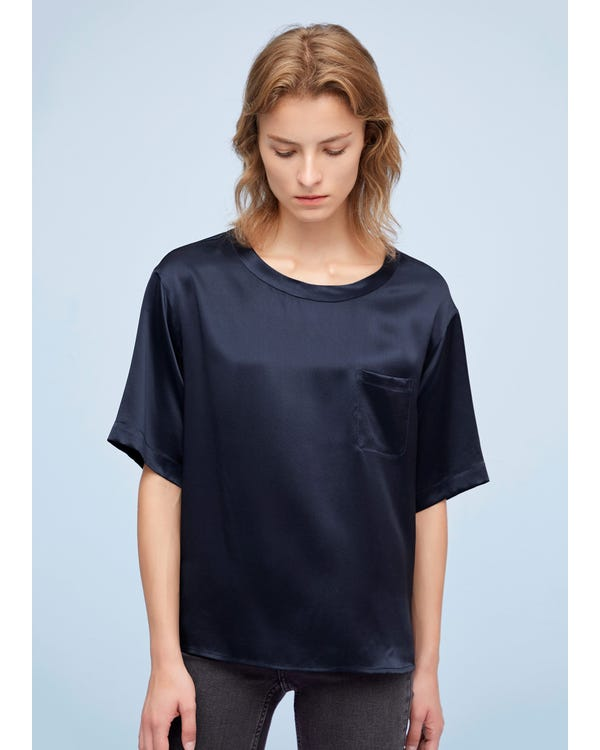 Comfy Pullover Round Neck Silk Top