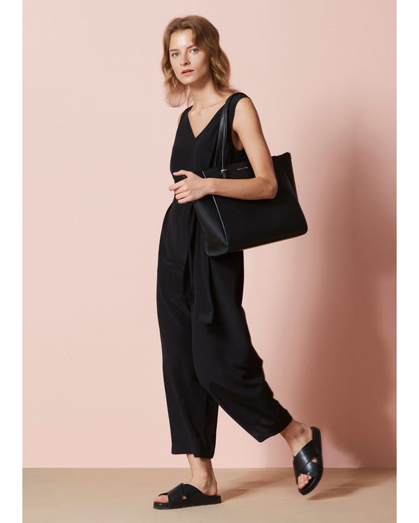 Chic Wide Leg Silk Jumpsuit