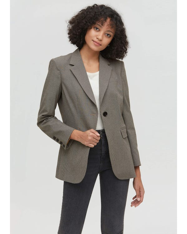 Classic Business Casual Blazer in Swallow Gird-hover