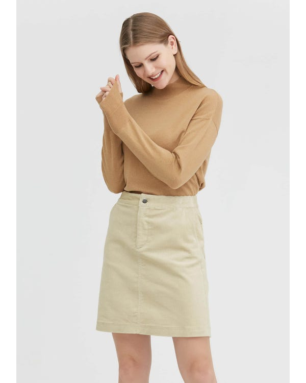 Casual A-line Corduroy Skirt