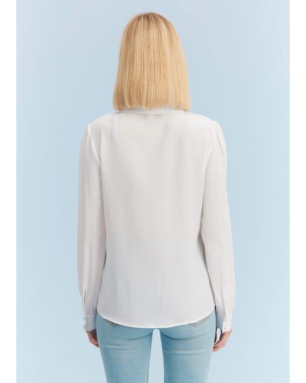 Elegant Long-Sleeved Everyday Silk Shirt-hover