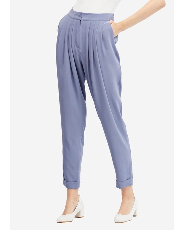 Sand Wash Loose Style Silk Pants Dusty-Blue 31B