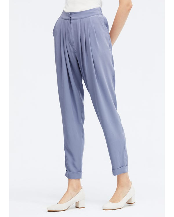 Sand Wash Loose Style Silk Pants Dusty-Blue 31B-hover
