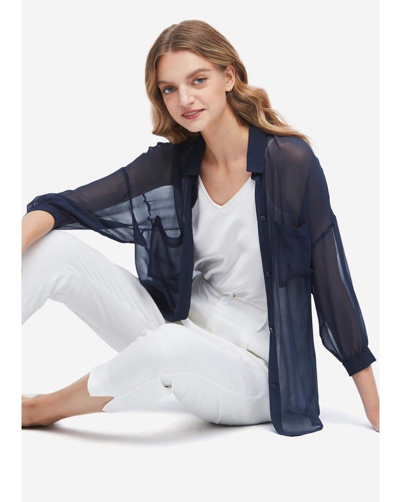 Sun Protection Performance Sheer Silk Outerwear