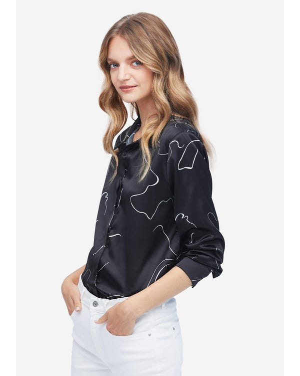 Personalized Concealed Placket Silk Shirt