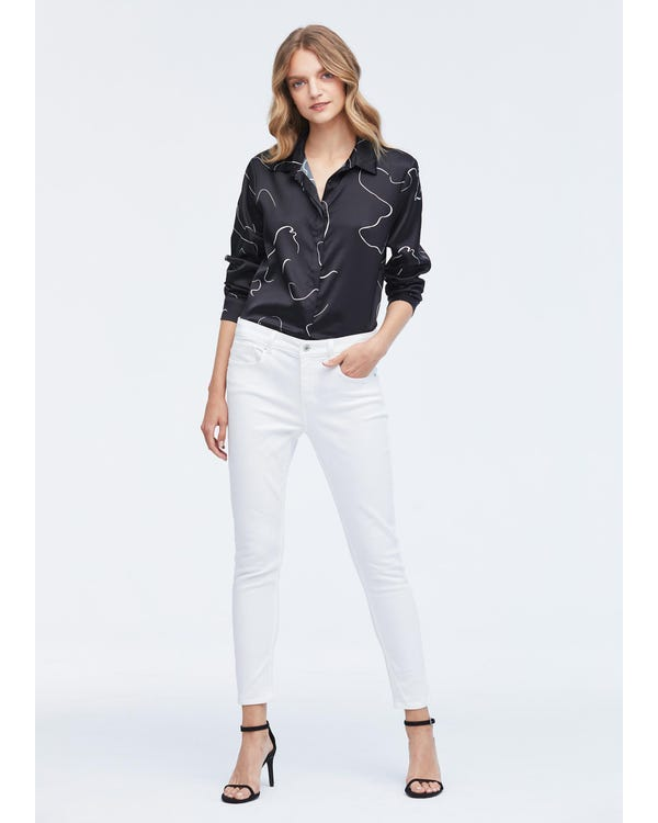 Personalized Concealed Placket Silk Shirt-hover